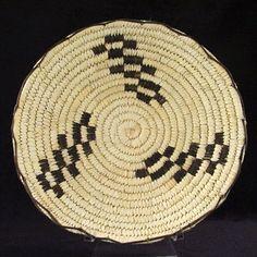 Modern Tohono O'odham basket of yucca