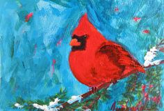 Red Cardinal, Holiday tree,
