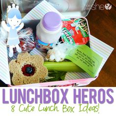 Lunch box heros: 8 cute lunch ideas #howdoesshe #lunchbox #backtoschool #lunch #funwithkids #snacks howdoesshe.com