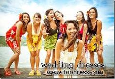 Casual tropical summer bridesmaid dresses