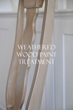 Great tutorial for how to paint a weathered wood treatment.