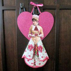 Valentine hankie/doll image