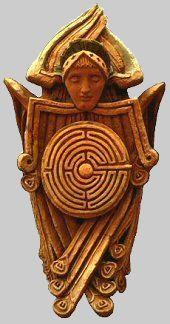 Terracotta Angel, c.1896. Watts Chapel, England. Photo: Jeff Saward/Labyrinthos