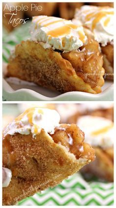 Warm apple pie filling wrapped in a crispy cinnamon sugar shell! Such an amazing fall dessert!