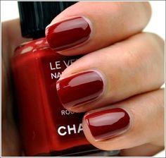 le verni, nail polish, rouge, nail colors, chanel roug