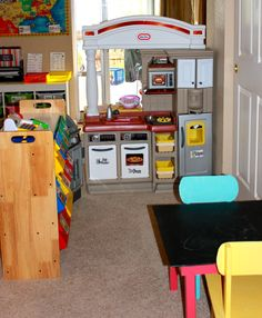 Achieving Creative Order: Basement Playroom--Learn with Play