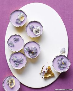 Spring cupcakes with sugared flowers, Martha Stewart