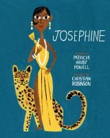 <2014 pin>  Josephine by Patricia Hruby Powell.  SUMMARY: In exuberant verse and stirring pictures, Patricia Hruby Powell and Christian Robinson create an extraordinary portrait of the passionate performer and civil rights advocate Josephine Baker, the woman who worked her way from the slums of St. Louis to the grandest stages in the world.