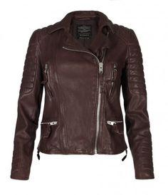 Oxblood Biker Jacket