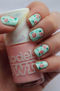 Fundamentally Flawless: Rose nail art