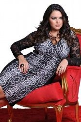 LOJA VIRTUAL PLUS SIZE www.tamanhosespeciais.com.br Vestido Renda estampado GG EGG Plus Size 48 50 52 54