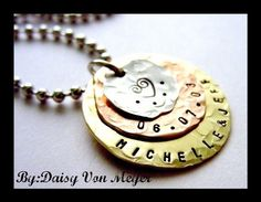 My Multi  Hand Stamped Jewelry  Sterling by Daisymetalcreations, $30.00