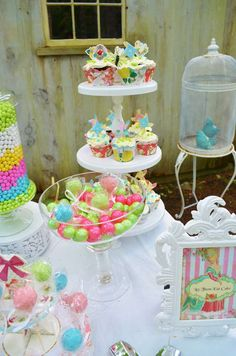 Shabby chic Baby Shower Party Ideas!  See more party planning ideas at CatchMyParty.com!