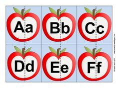 Free Apple Alphabet Match