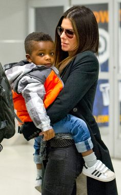 Sandra Bullock and son Louis peopl celebr, jfk airport, son loui, sandra bullock, celebr kid, favorit peopl, airports, sons, photo galleries