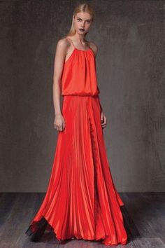 Liana Pleated Silk Dress