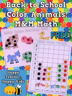 FREE Brown Bear Kindergarten Math Activities- sorting, graphing, data analysis, & simple addition number sentences. So fun for back to school and totally free :-) #kindergarten #backtoschool #brownbear