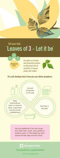 3 ways to relieve symptoms of #poisonivy. #rash #skin #allergy
