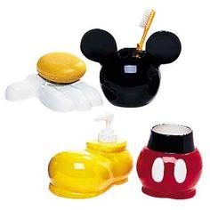 Mickey bathroom on pinterest mickey mouse bathroom mickey bathroom and disney bathroom - Mickey mouse bathroom accessory set ...