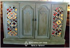 stereo cabinet redo west hello chalk paint i think i love you stereo ...