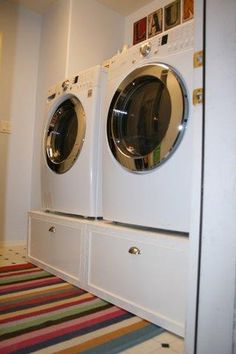 Washer & Dryer Pedestal / Platform with Drawers   Do It Yourself Home Projects from Ana White