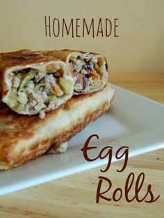 Homemade Pork Egg Rolls