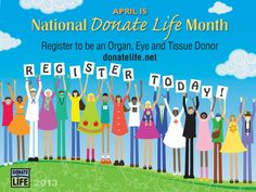 April is National Donate Life Month! You can download materials to help spread the word at http://donatelife.net/april2013/. #donatelife