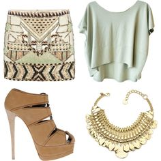 gorgeous, neutral outfit