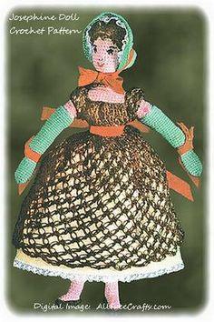 Josephine Doll ~ Free Vintage Crochet Pattern