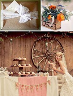 Rustic shabby chic wedding inspiration board