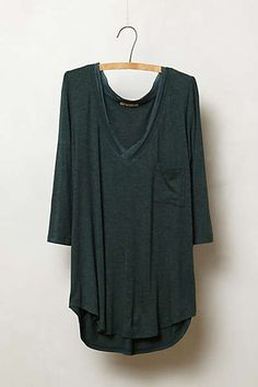 #anthropologie - chiffon trim v-neck. With skinny jeans, fli flops, and a messy bun this would be adorable.