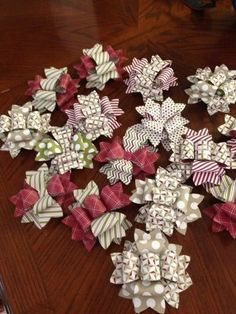 stampin up gift bow die  - Season of Style Christmas bows using bow die