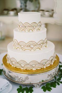 art deco inspired cake