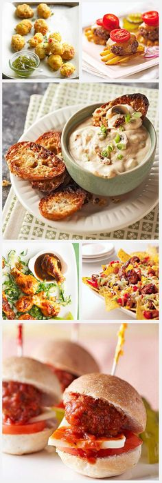 Daily Dish: Tasty game day appetizers! Get more Daily Dish recipes here: http://bhgfood.tumblr.com/post/42035888138/whos-ready-for-super-bowl-sunday-heres-whats
