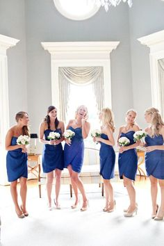 Dresses by Jenny Yoo/ color Evening Blue/ vestidos para las damas de la boda