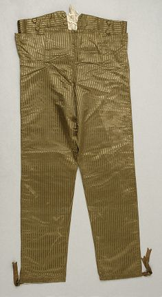 Silk trousers, ca. 1800, French