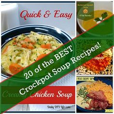 20 of the BEST Crockpot Soups! | from Daily DIY Life | Great inspiration for slow cooker season!