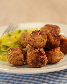 Jessica Alba's Turkey Meatballs, Recipe from The Martha Stewart Show,