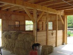"""*sigh* This is where I want to be!  It just screams """"Hey, come on in! Pull up a hay bale and grab a bar of saddle soap and we'll hang out and talk about horses, and laugh, and clean tack :).""""  (See Barn Plan 2)"""