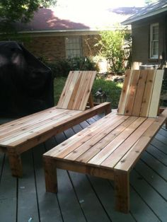 Cedar loungers   Do It Yourself Home Projects from Ana White