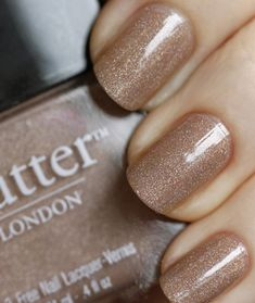 Nude Sparkle Nail Polish --love this