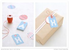 Printable alphabet gift tags