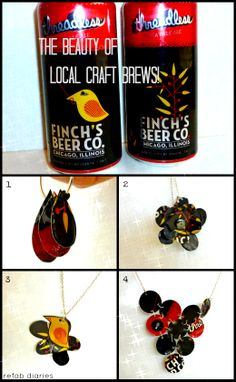 Beer Can Jewelry {DIY} - The Finch's Threadless Collection