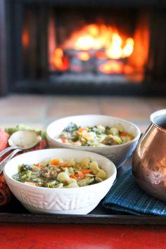 Italian Wedding Soup with Kale