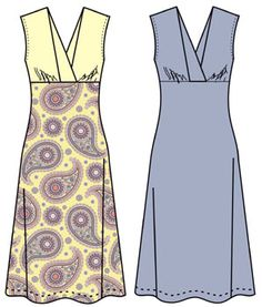 Бесплатные выкройки для платьев