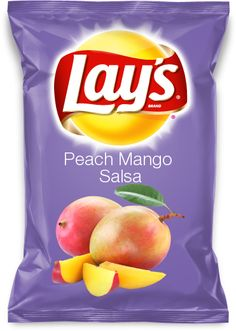 My idea for the new Lays flavor contest. Peach Mango Salsa Lays Chips.