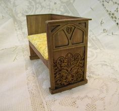 Deacons Bench gothic style dollhouse by TreasuresFromTexas on Etsy