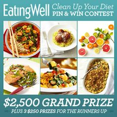 Enter the Clean Up Your Diet Pin & Win Contest for a chance to win!