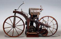 The first motorcycle, 1885