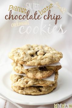 Produce On Parade - Salted Peanut Butter Chocolate Chip Oatmeal Cookies #vegan